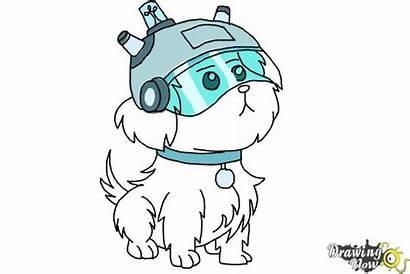Draw Snowball Morty Rick Drawing Step Drawings