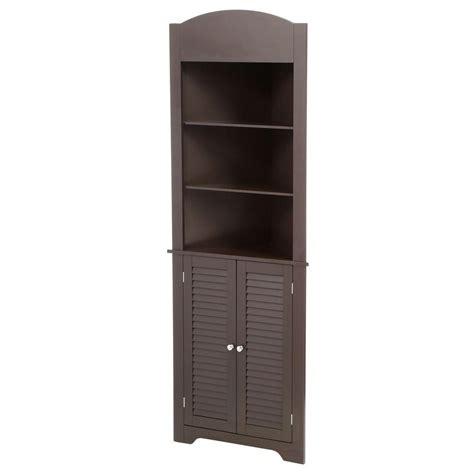 riverridge home ellsworth single door floor cabinet riverridge ellsworth floor cabinet with side shelves white