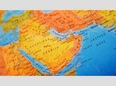 Mapa de la Peninsula Arábiga
