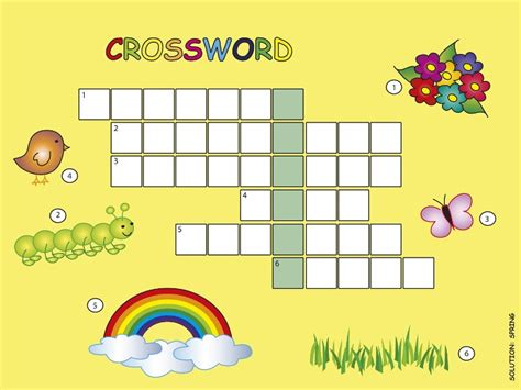 crossword puzzles  kids