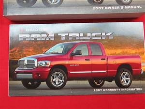 2007 Dodge Ram Truck Owners Manual Guide Book