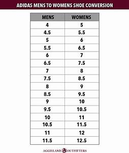 Mens To Womens Shoe Size Conversion Chart Adidas Di 2020