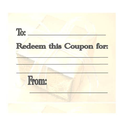 Create A Coupon Template Free by Make Your Own Customizable Coupon Book Free Printables