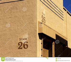 Hollywood Movie Studio Stage Building Stock Image - Image ...