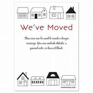 we have moved card with houses invitations cards on With we have moved cards templates