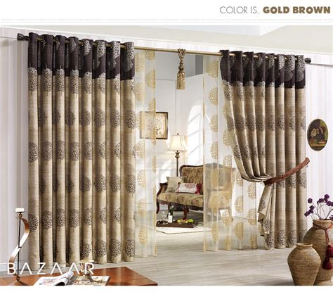 jacquard gold eyelet curtains 570cm w 235cm d 1pair