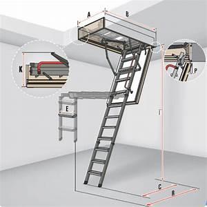 Escalier Escamotable Grenier : fakro escalier de grenier lmp eurabo ~ Melissatoandfro.com Idées de Décoration