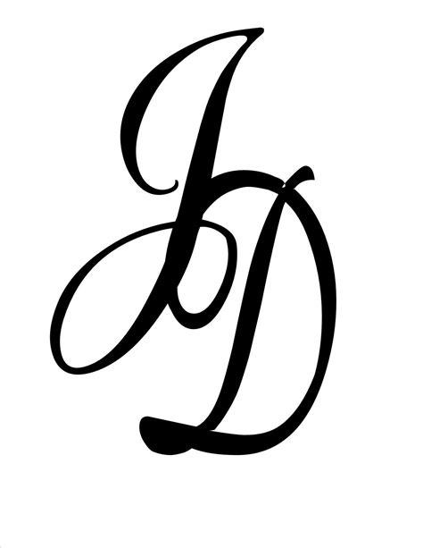 jd monogram  tattoo tattoo lettering initial tattoo
