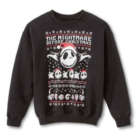 nightmare before sweater boys 39 nightmare before sweater black target