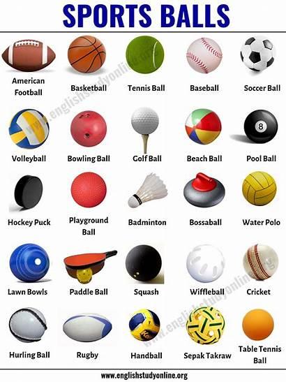 Balls Sports Ball Games Popular English Around