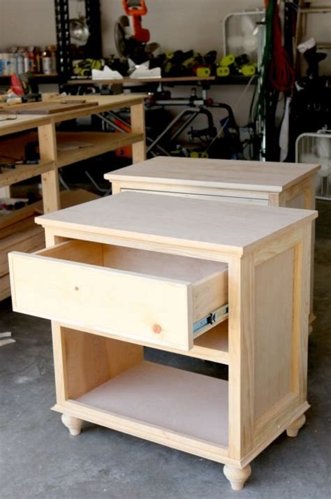 build diy nightstand bedside tables wood working