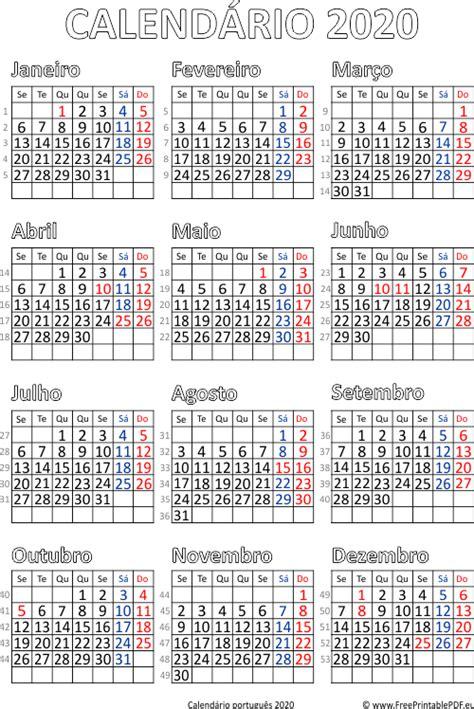 calendario portugal impressao