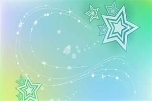 Estrellas en fondo verde (15083)