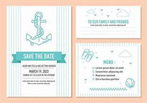 beach wedding invitation card vector download free With beach wedding invitations vector