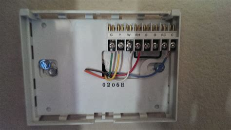 replacing honeywell thermostat to tempstar wire diagram