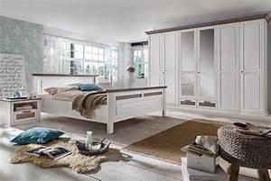 Schlafzimmer Weiß Landhaus : schlafzimmer landhausstil wei lugano kiefer teilmassiv p03 ~ Sanjose-hotels-ca.com Haus und Dekorationen