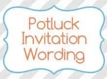 Halloween Potluck Invitation Sample potluck invitation wording birthday invitation wording