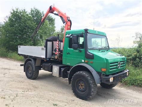 Used Mercedes-benz -unimog-u4000-palfinger-pk6500a-crane