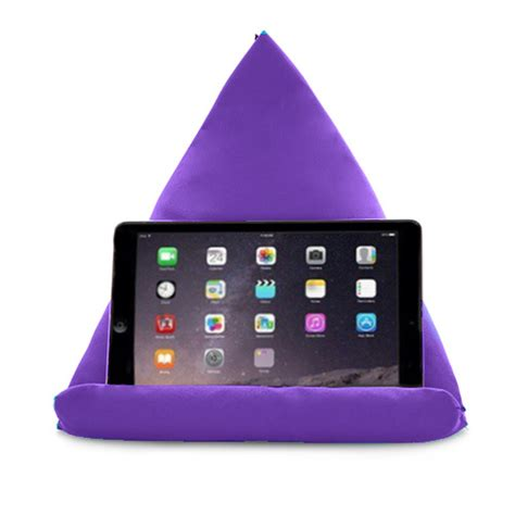 cusion bed purple tablet book rest cushion bean bag pillow stand