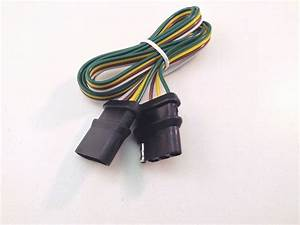 48 U0026quot  Trailer Light Wire Harness 4 Way Wire Flat Connector