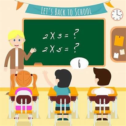 Classroom Illustration Vector Student Kid Clipart Students