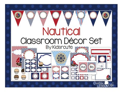 Nautical Themed Classroom Decorations by Creative Lesson Cafe Nautical Classroom Decor Set And
