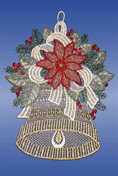 Fensterdeko Weihnachten Rot by Fensterbilder Plauener Spitze Glocke Rot G 252 Nstig Kaufen