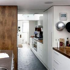 White Kitchen With Wooden Worktops  Wood Effects