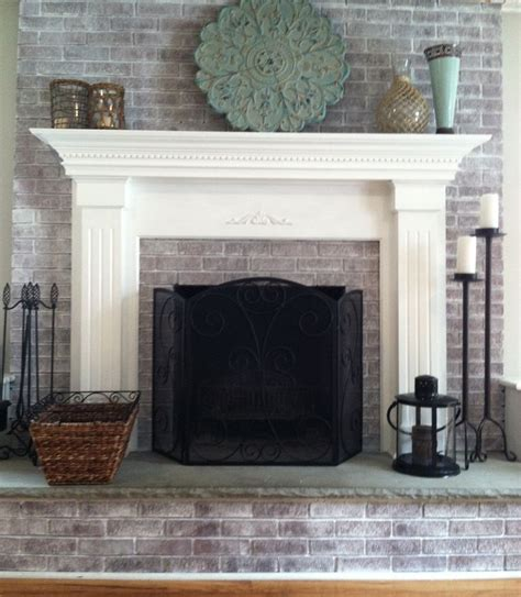 whitewash brick fireplace whitewashing brick fireplace studio design gallery