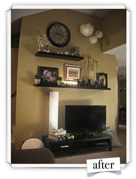 decor above tv 1000 ideas about corner tv shelves on tv