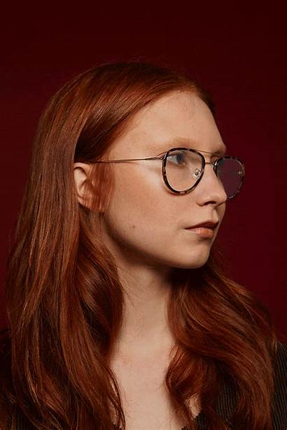 Gigi Barcelona Brown November Gold Glasses Lab
