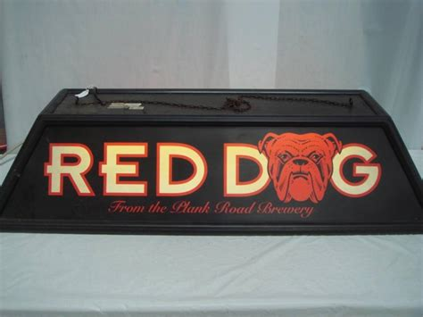 red pool table light red dog pool table light