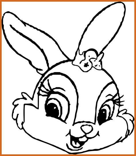 Bunny Coloring Pages Best Coloring Pages For Coloring Pages Disney Thumper Rabbit Coloring