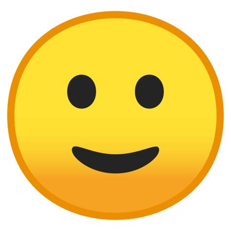 faccina  sorriso accennato emoji