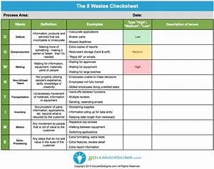 The 8 Wastes Checksheet
