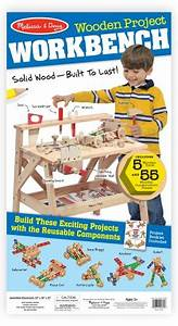 Melissa & Doug Solid Wood Project Workbench Play Building