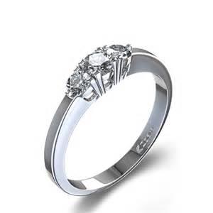 contemporary engagement rings contemporary three engagement ring in palladium united kingdom