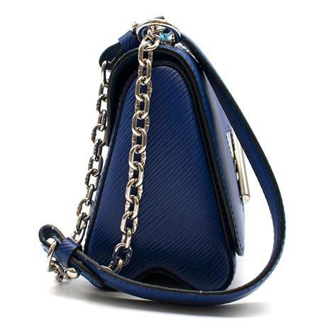 louis vuitton blue twist pm epi leather mini shoulder bag  sale  stdibs