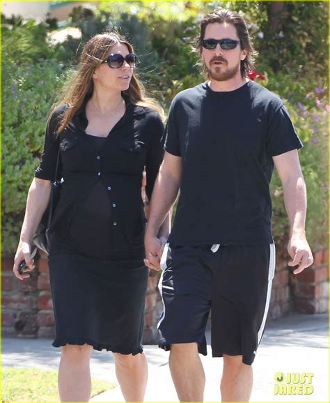 Christian Bale Steps Out Holding Hands With Pregnant Wife