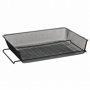 officemax mesh stacking side load letter tray black by With black mesh letter tray