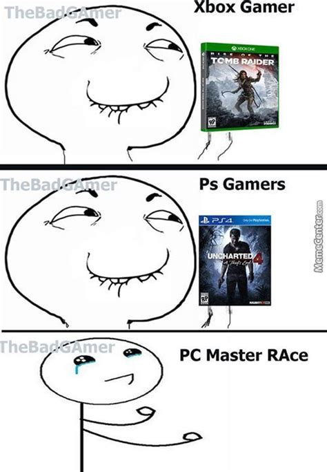 Pc Master Race Memes - where is your god now pc master race credit to thebadgamer by monty amv meme center