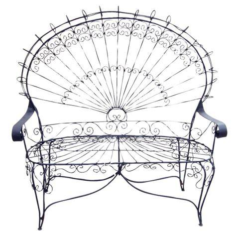 Wrought Iron Settee by 1stdibs Style Outdoor Wrought Iron Peacock