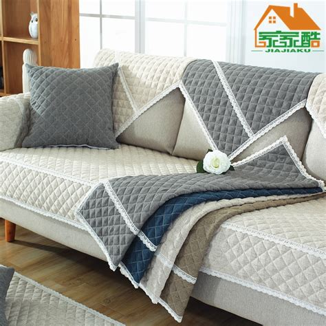 sofa covers  living room gray white color cooton sofa cushion couch cover modern minimalist