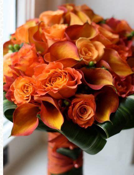 tangerine colored weddings orange wedding flowers
