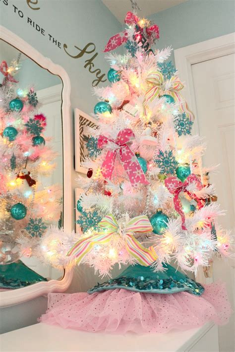 pink and white xmas tree skirt the yellow cape cod the story my trees featured in homes magazine