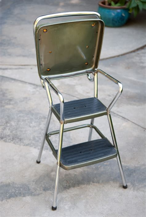 cosco chair step stool heygreenie vtg retro cosco step stool chair estate sold