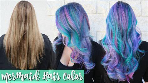 Mermaid Hair Color Transformation Youtube