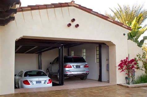 custom car lift  california garage mediterranean