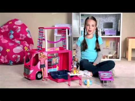 barbies sisters family camper review youtube