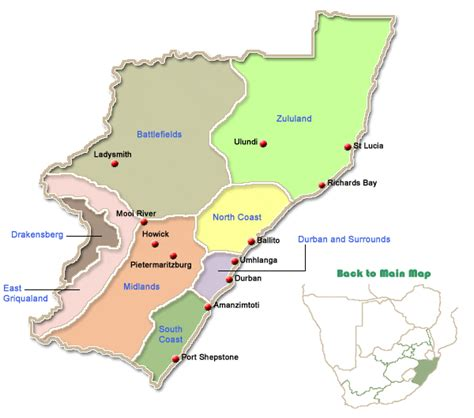 KwaZulu Natal Map Search | KwaZulu Natal Accommodation